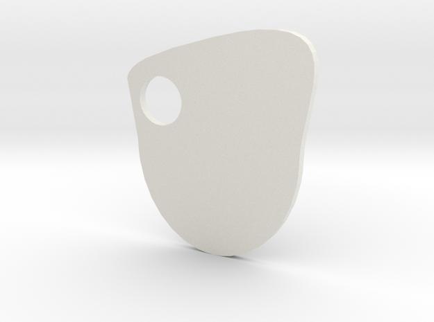 Artists Palette in White Natural Versatile Plastic