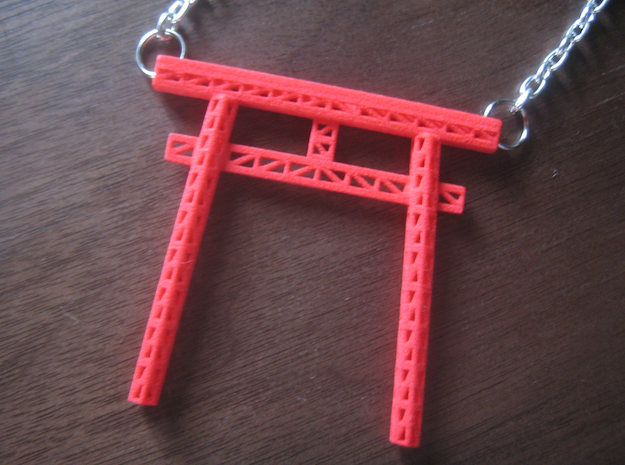 Truss Torii Gate in Red Processed Versatile Plastic