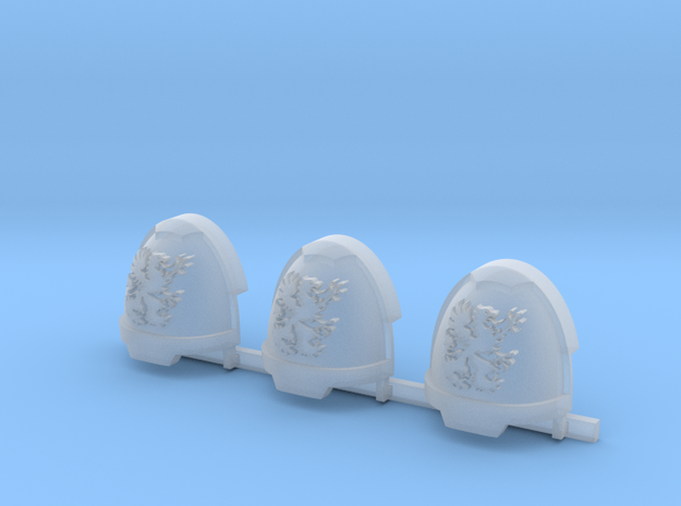 Griffons Gravus Shoulder Pads x3 R #2 in Smooth Fine Detail Plastic