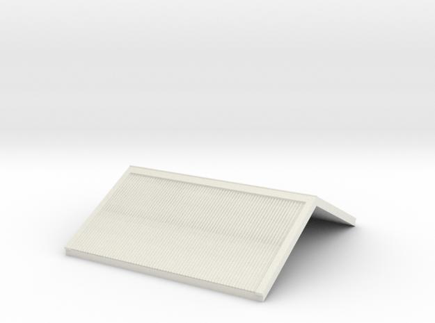 HO Roof - Gilmore & RH Door PC Signal Box in White Natural Versatile Plastic