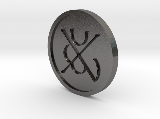 Seal of Mars Coin in Polished Nickel Steel