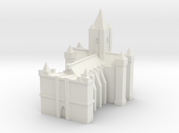 Medieval Grand Cathedral in White Natural Versatile Plastic