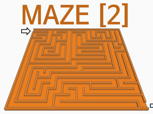 [1DAY_1CAD] MAZE [2]  in White Natural Versatile Plastic