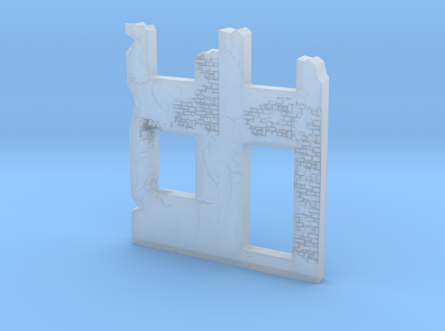 Building wall ruins 1/200 in Smooth Fine Detail Plastic