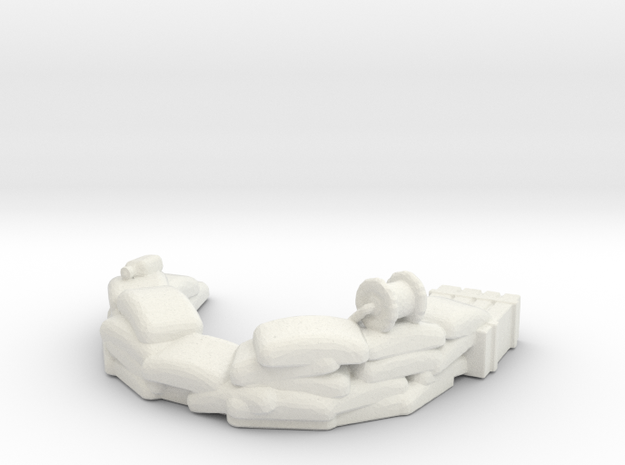 Sandbag Emplacement 1/87 in White Natural Versatile Plastic