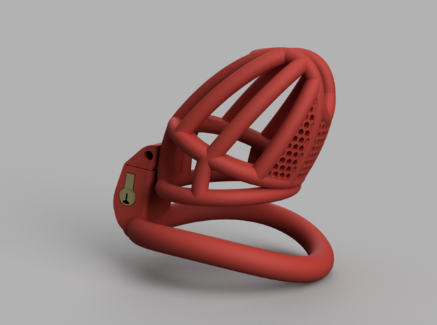 Cherry Keeper Long Wide with TouchStop in Red Processed Versatile Plastic: Medium