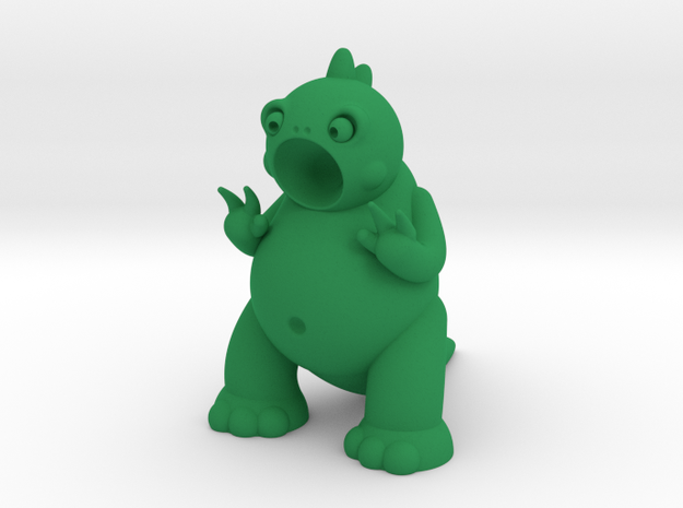 Godric the Tiny Godzilla in Green Processed Versatile Plastic