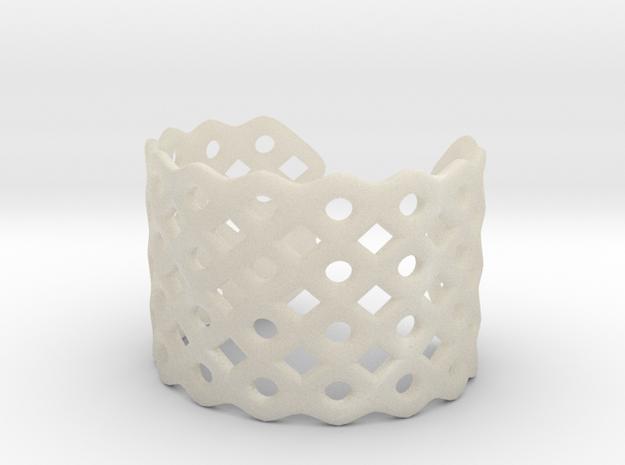 Circles & Squares Cuff (Size L) 3d printed