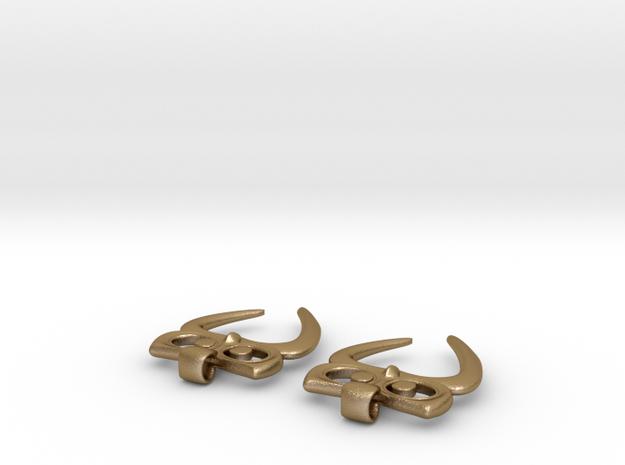 Owl Heart Earrings 3d printed