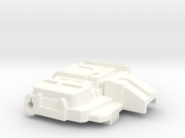 Chic-Capitan chest plate for Siege Starscream in White Processed Versatile Plastic