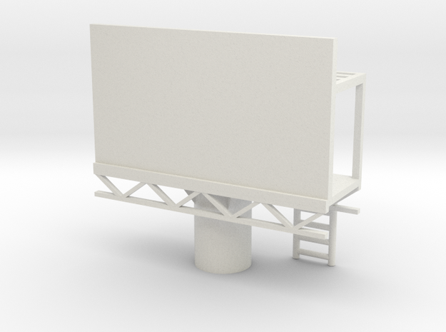 Billboard 1/72 in White Natural Versatile Plastic