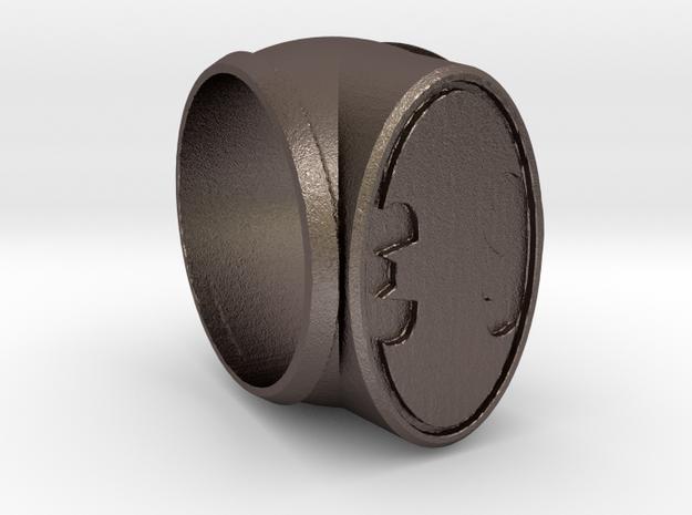 Batman Ring in Polished Bronzed-Silver Steel