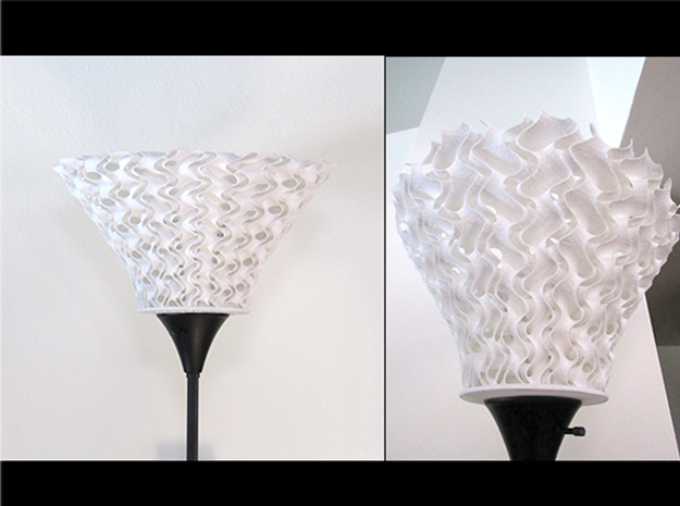 Double Helix Lampshade  in White Natural Versatile Plastic