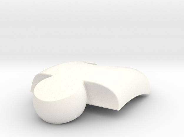 Puzzlelink in White Processed Versatile Plastic