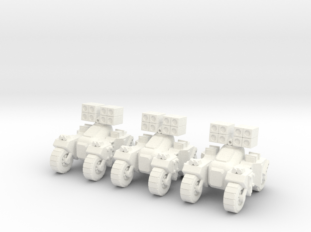 6mm - Assault Anti Air in White Processed Versatile Plastic