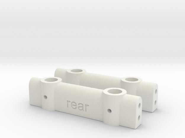 SCX-10 to TRX4 bumper mount set in White Natural Versatile Plastic