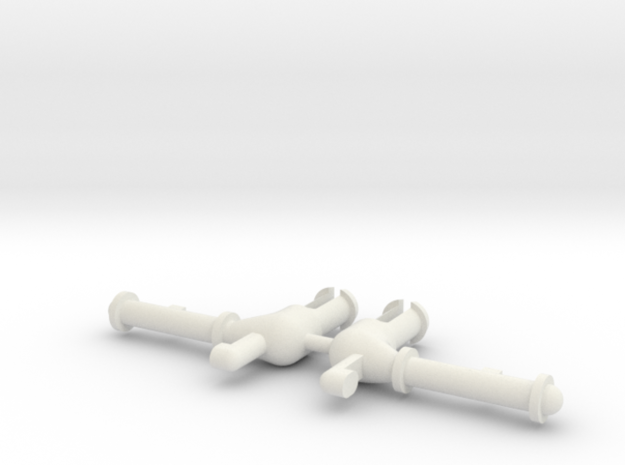 WHALE Missile Box Arms Set in White Natural Versatile Plastic