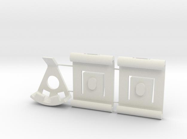 Seat Glide Set for a Scirocco MK1 in White Natural Versatile Plastic