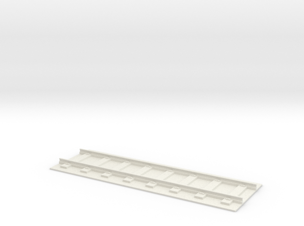 150mm Rail Section - Straight in White Natural Versatile Plastic
