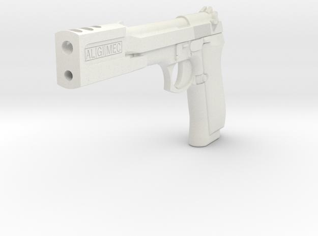 "Leon Pistol ""The Professional"" Movie Prop Replica in White Natural Versatile Plastic"
