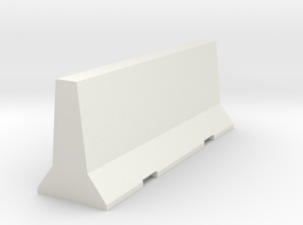 Jersey Barrier in White Natural Versatile Plastic