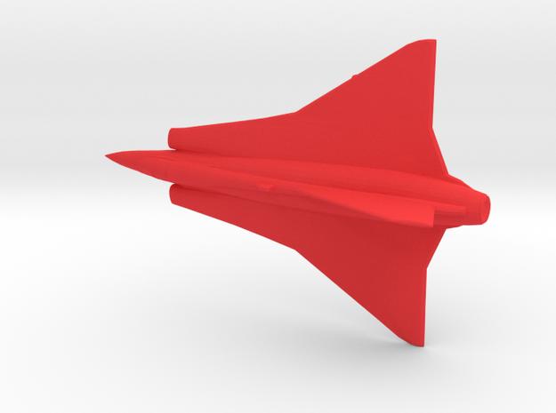 1:144 Saab Draken  in Red Processed Versatile Plastic