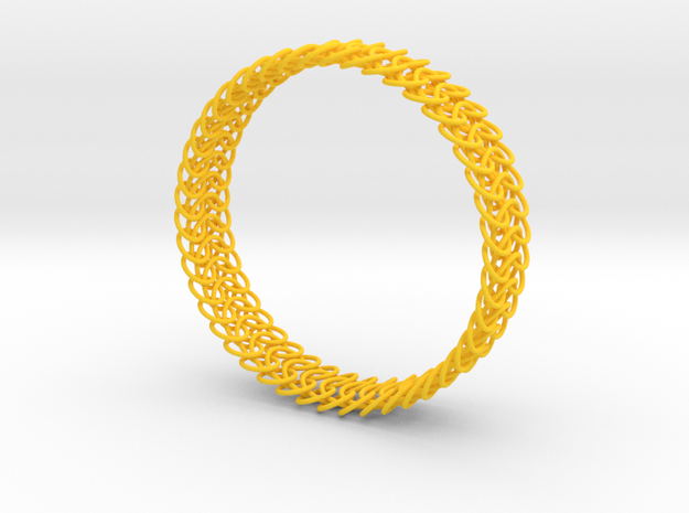 Euro 6-in-1 Chainmail Bracelet B 3d printed