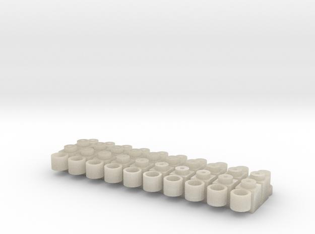 Ejes Tren 10x in White Acrylic