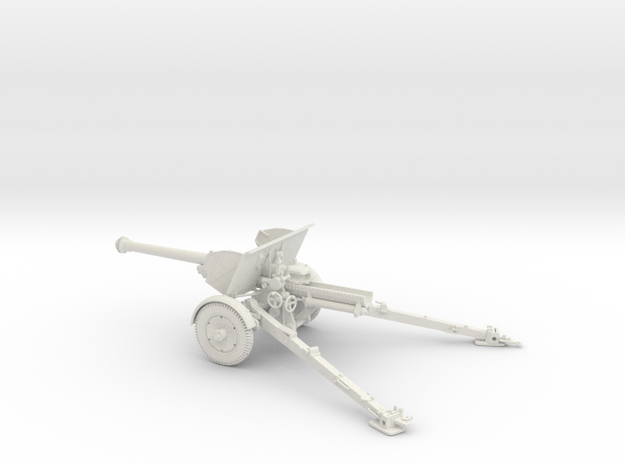 1/32 IJA Type 90 75mm Field Gun in White Natural Versatile Plastic