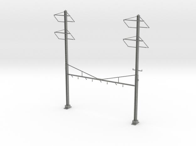 HO Scale PRR K Braced 4 Track Y BRACKET 2-2PH in Gray PA12