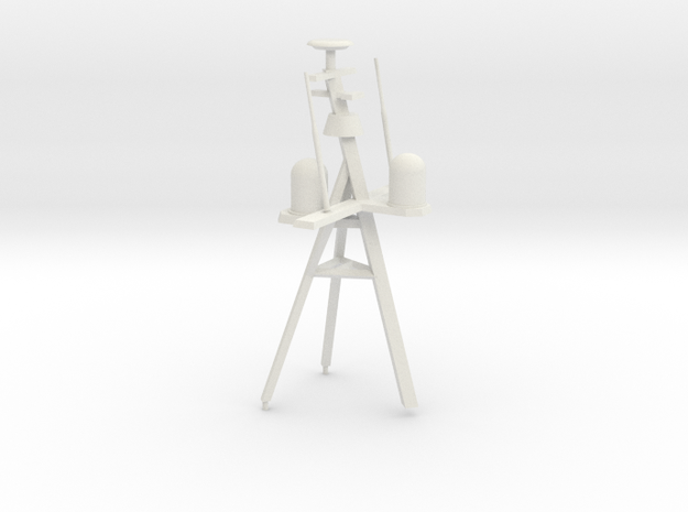 1/96 LCS 2 Mast set with dome in White Natural Versatile Plastic