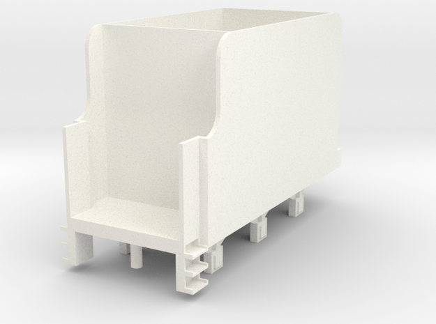 OO Scale NWR #3 Tender No Lining in White Processed Versatile Plastic