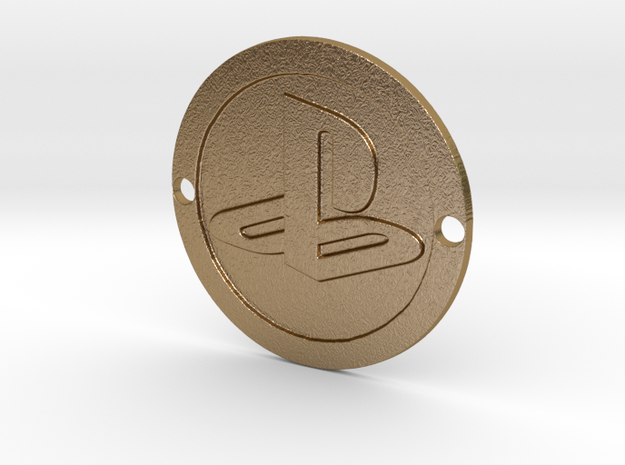 PlayStation Custom Sideplate in Polished Gold Steel