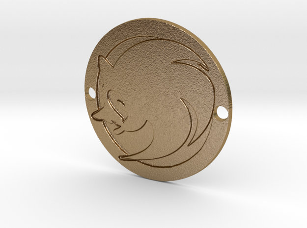 Sonic the Hedgehog Custom Sideplate 2 in Polished Gold Steel