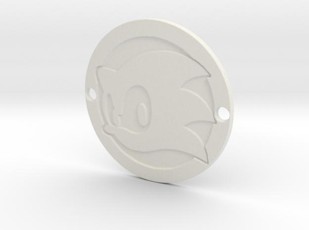 Sonic the Hedgehog Custom Sideplate 3 in White Natural Versatile Plastic