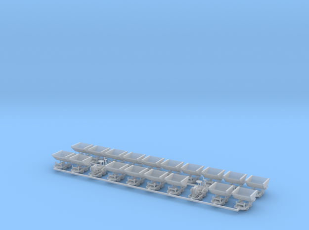 Feldbahn Set6 - TTf 1:120 in Smooth Fine Detail Plastic