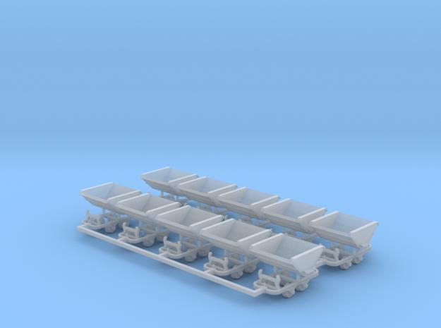 Feldbahn Kipploren 10er Set - TTf 1:120 in Smooth Fine Detail Plastic