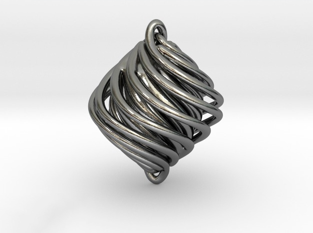 Twist Pendant in Polished Silver