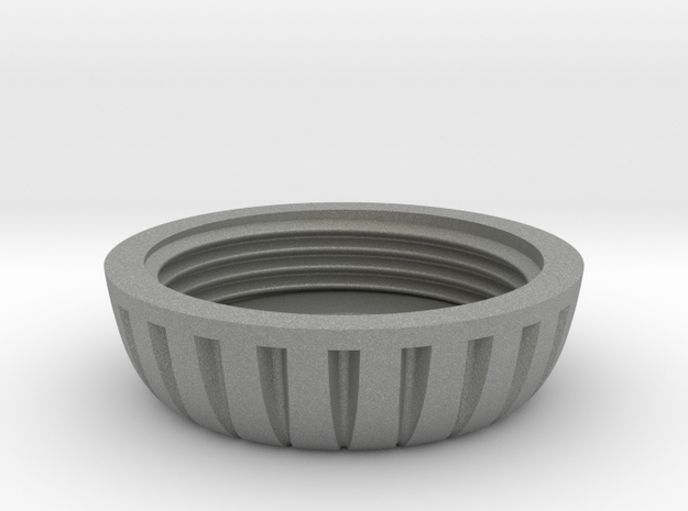 18mm Motor Retainer Cap Knurled in Gray PA12