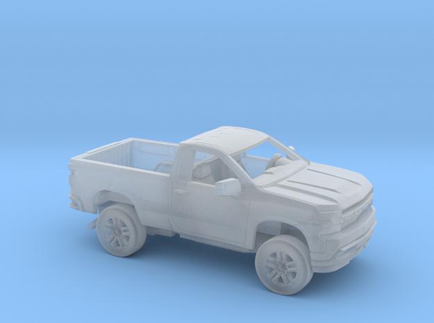 1/87 2019 Chevrolet Silverado Reg Cab Regular Bed  in Smooth Fine Detail Plastic