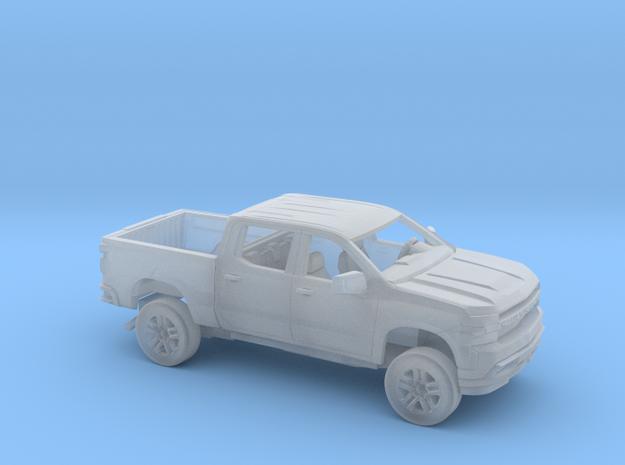 1/160 2019 Chevrolet Silverado Crew Cab  Short Bed in Smooth Fine Detail Plastic