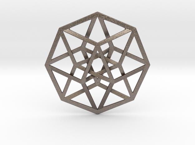 4D Hypercube (Tesseract) in Stainless Steel