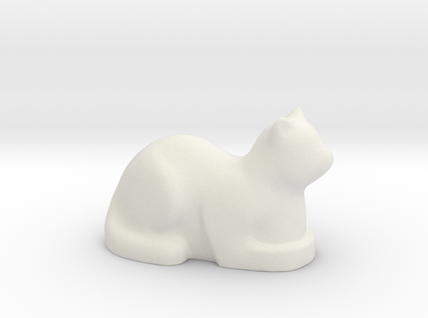 Stylized Cat in White Strong & Flexible