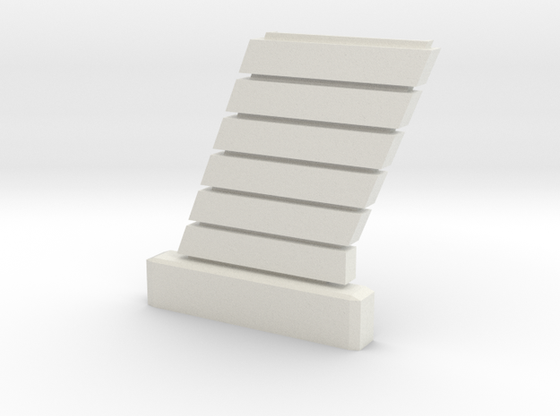 1:72 Viper Bay Wall (C) in White Natural Versatile Plastic
