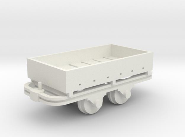 Kastenwagenlore - 1:35 in White Natural Versatile Plastic