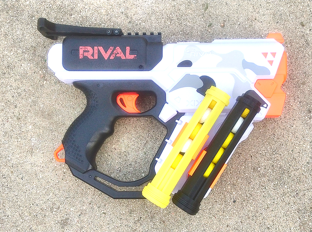 SpeedLoader Carrier for Nerf Rival Heracles in Yellow Processed Versatile Plastic