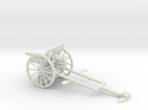 1/32 IJA Type 41 75mm Mountain Gun in White Natural Versatile Plastic