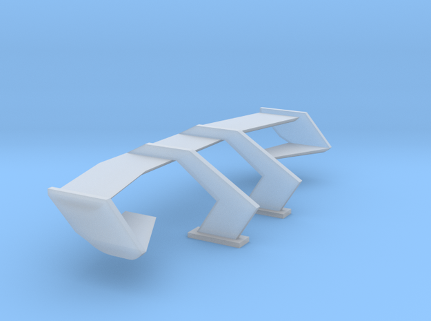 1/24 1/25 Dual plane wing in Smooth Fine Detail Plastic