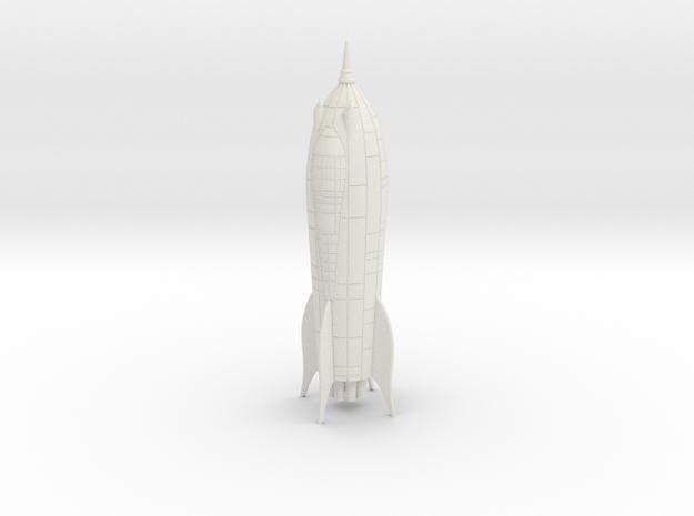 Zarkov Rocket Filmation in White Natural Versatile Plastic