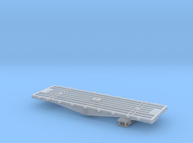 PRR F22 flat car w/bridge in O scale in Smooth Fine Detail Plastic